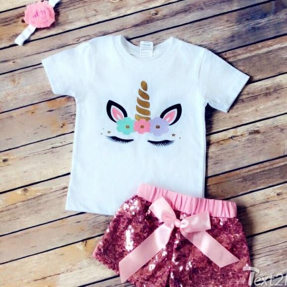 7f1ec38e0b32 Mabel and Lola Matching Sets | Custom Unicorn 1st Birthday Family ...